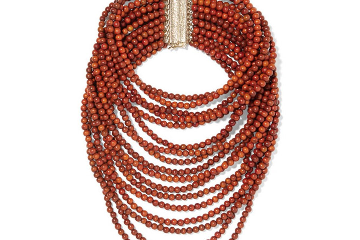 rosantica arizona gold tone beaded necklace