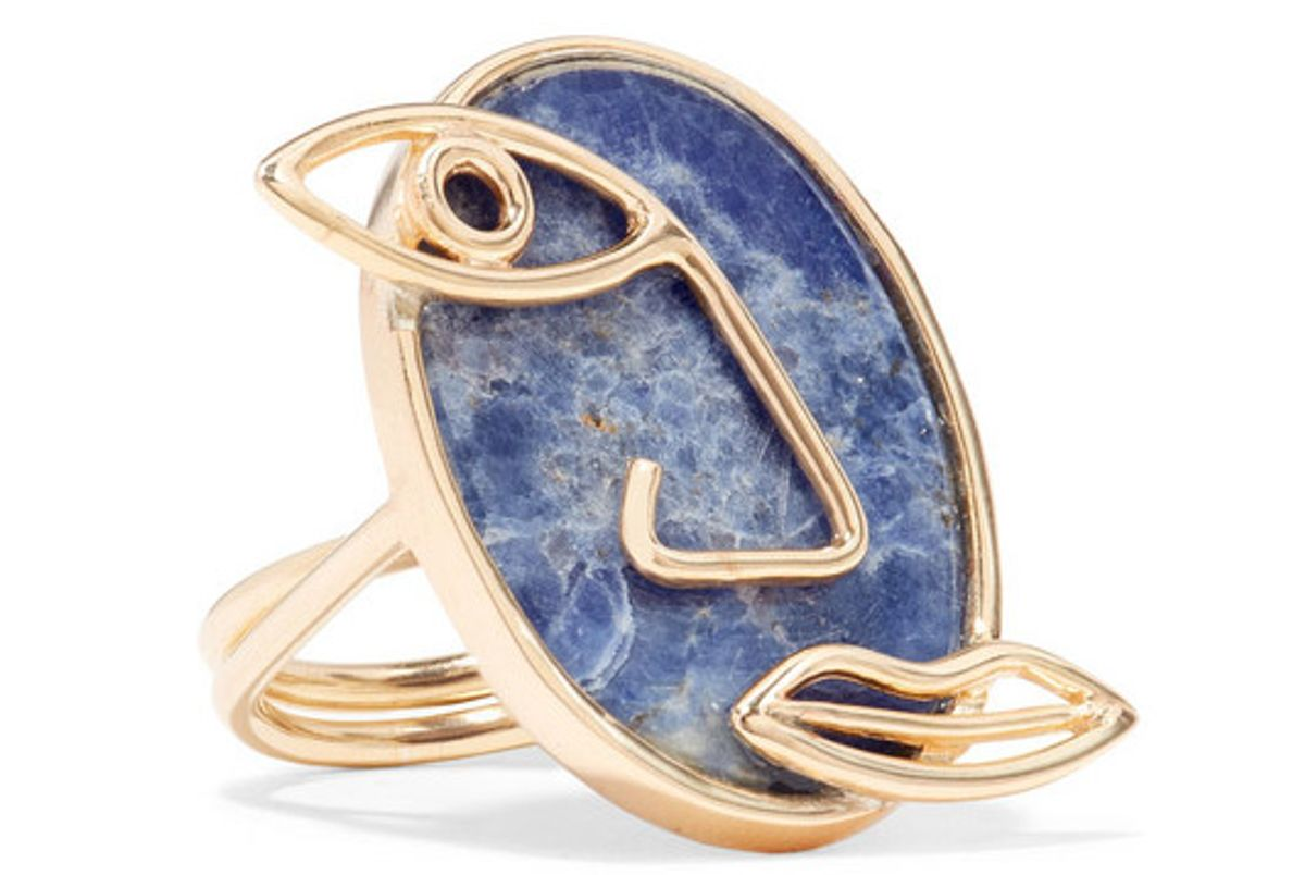 paola vilas pablo gold plated sodalite ring