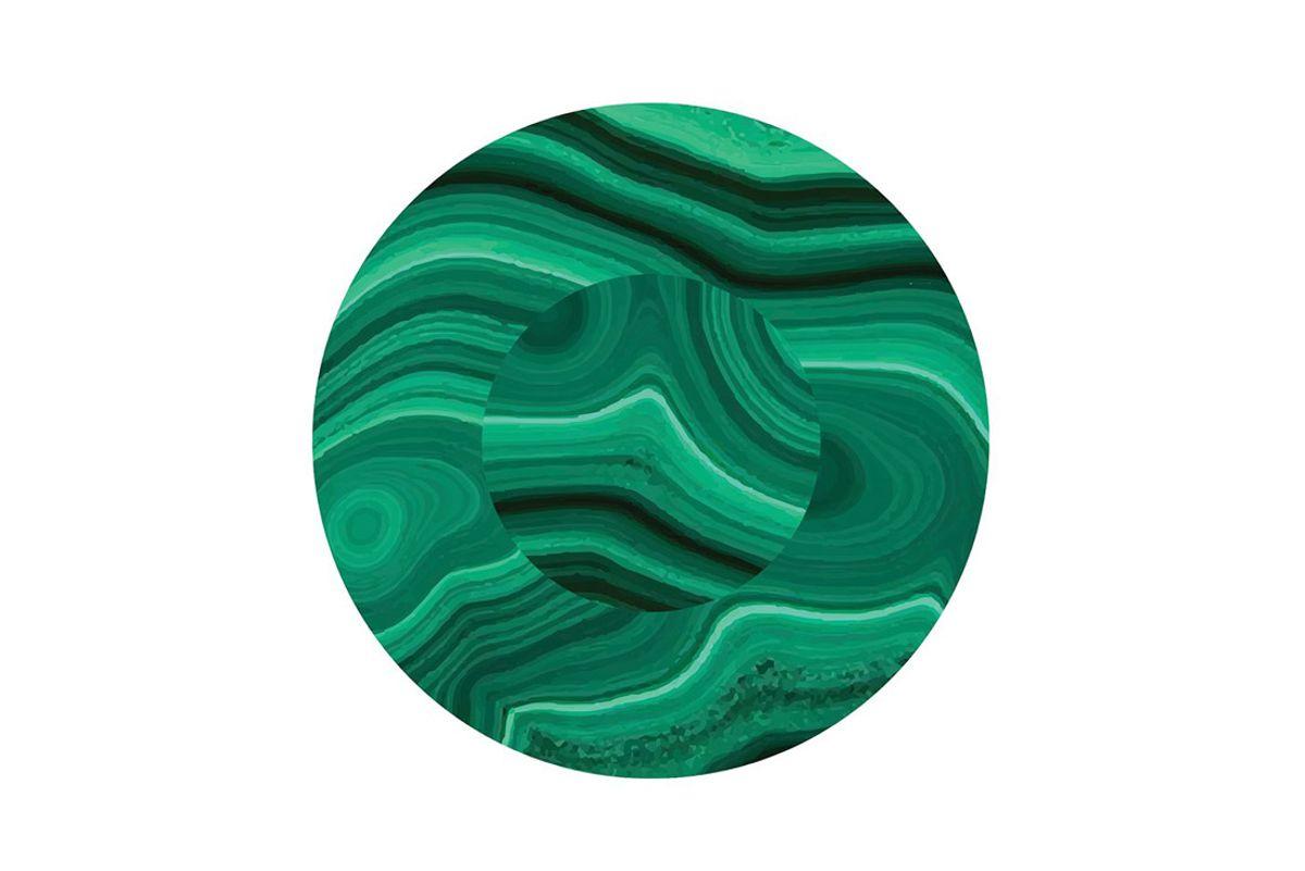 maison de mode set of 6 malachite coasters in green
