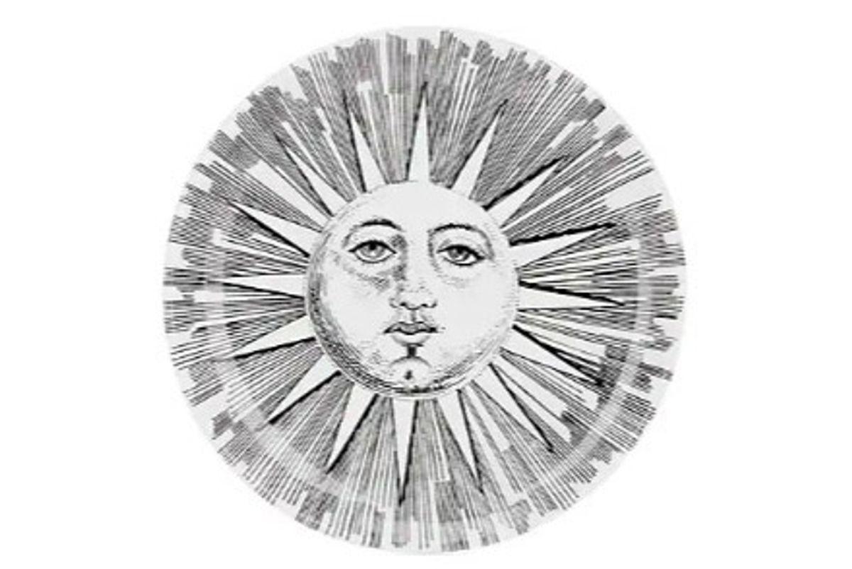 ornasetti set of 8 soli e lune porcelain coasters