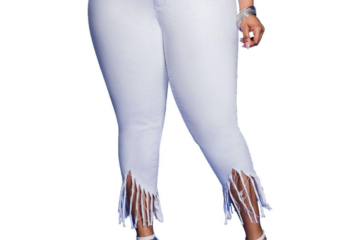 Fray Hem Ankle Jean