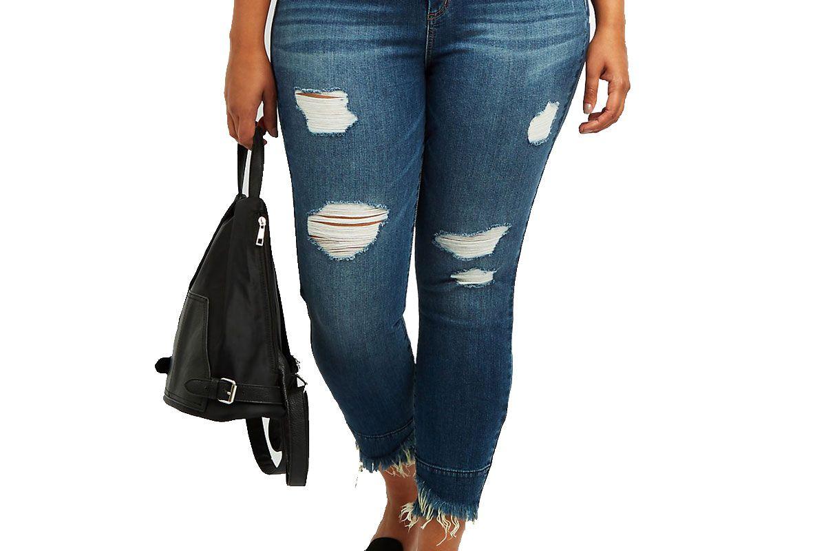 Plus Size Refuge Destroyed Skinny Jeans