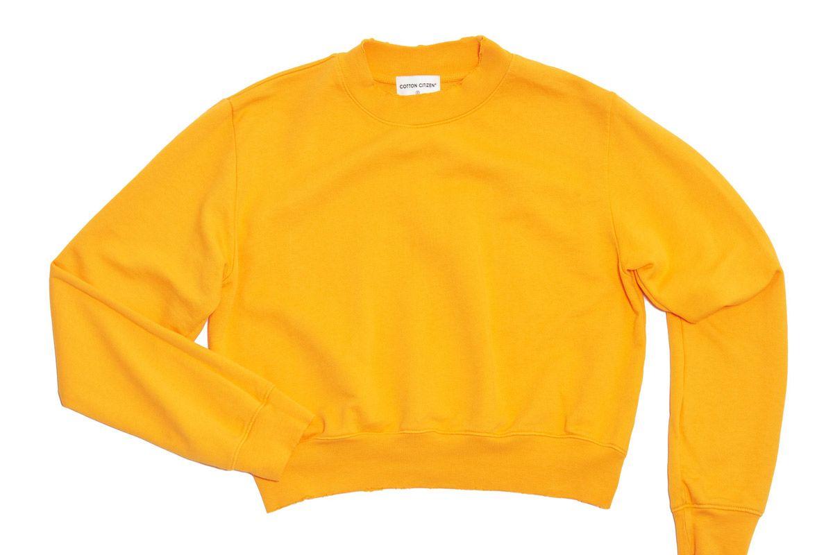 cotton citizen milan crop crew sunny yellow