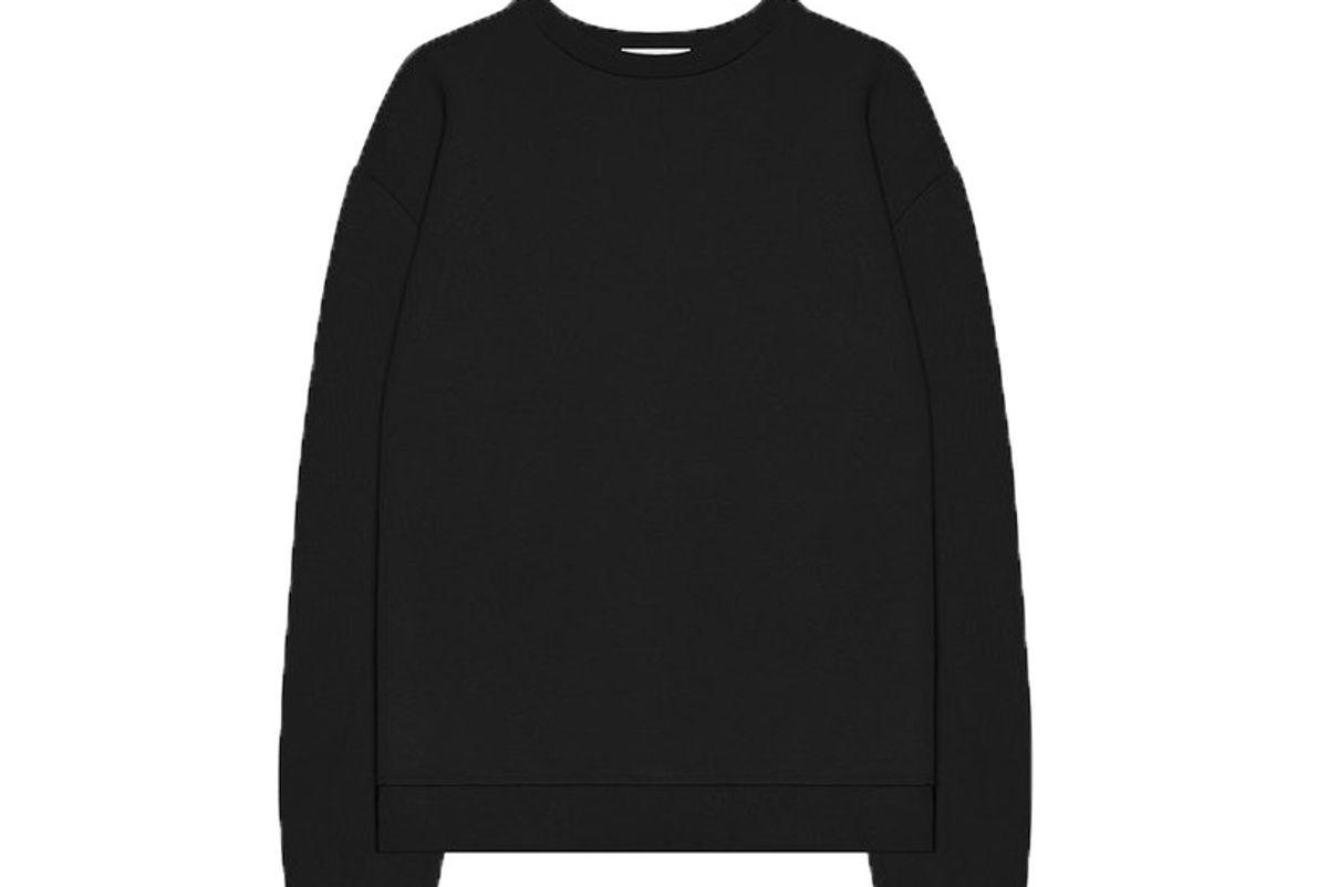 john elliot oversized crewneck pullover black