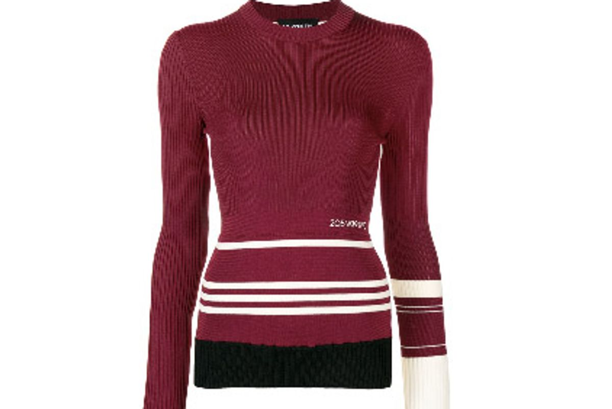 calvin klein 205w39nyc ribbed sweater