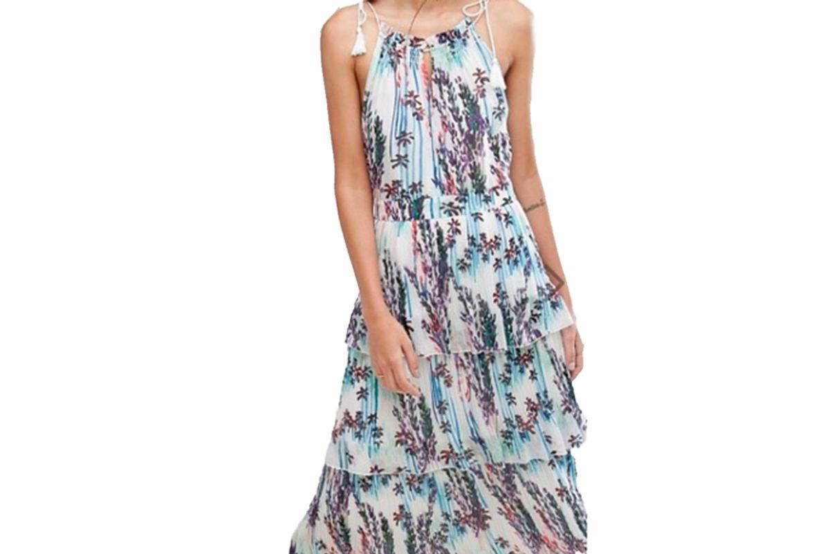 Imie Fleur Print 3 Tiered Dress
