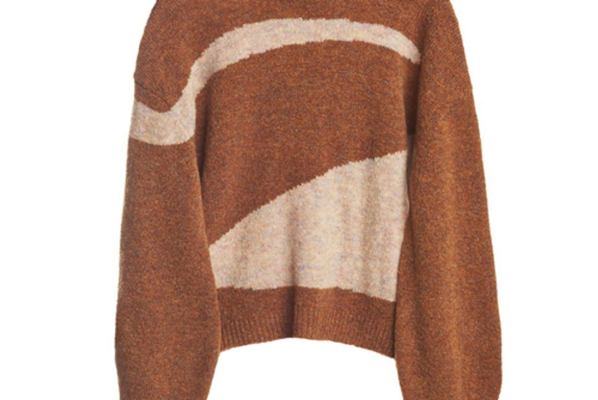 paloma woolvega sweater in shiny brown