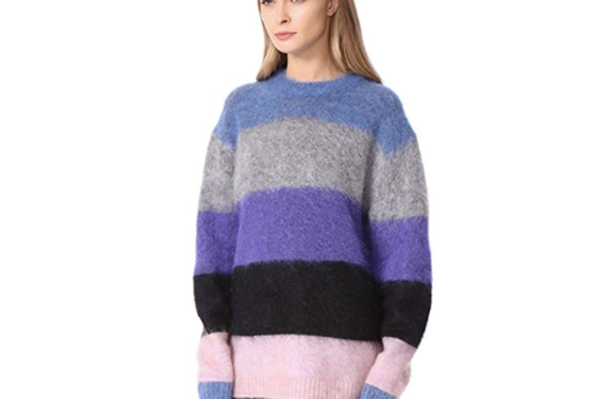 acne studios striped sweater multi mix stripe