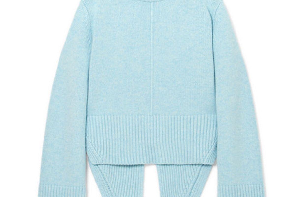 khaite virginia asymmetric cashmere sweater