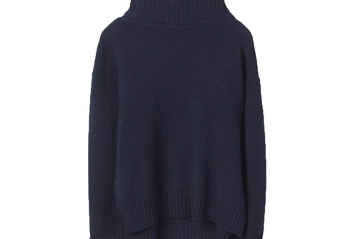 flippa k chunky roller neck sweater f18 navy
