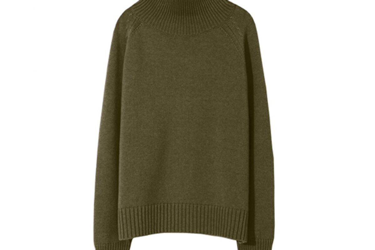 nili lotan mariah sweater uniform green