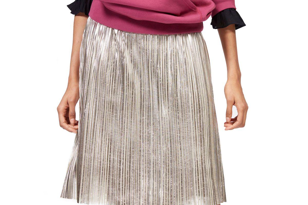 isabel marant etoile delphina metallic skirt