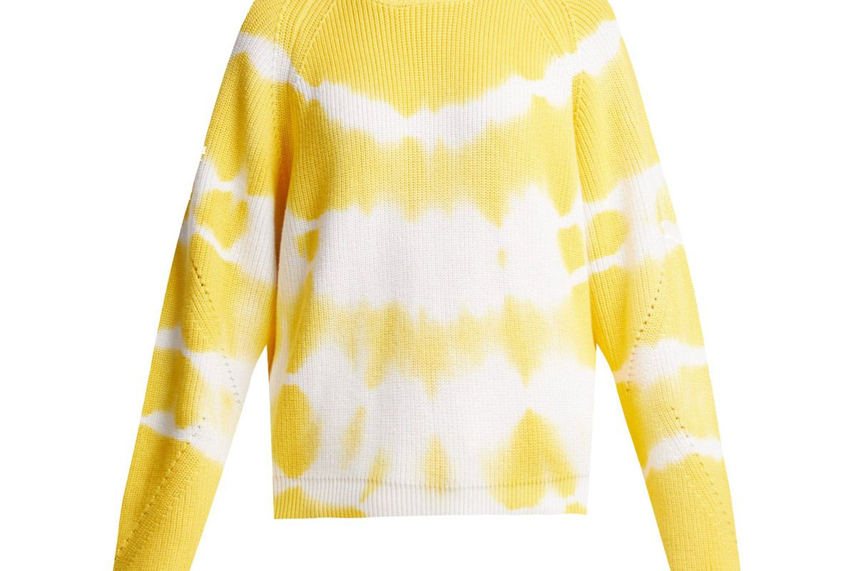 msgn bleached cotton sweater