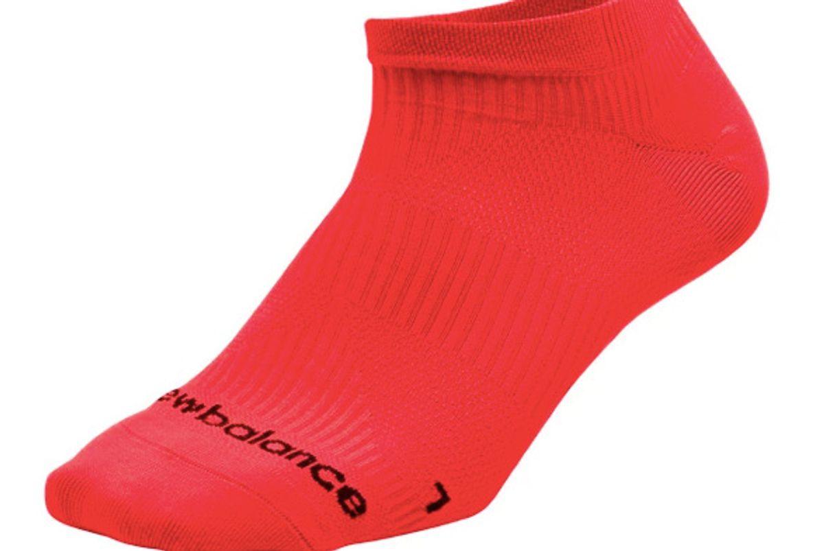 new balance run foundation flat knit no show sock