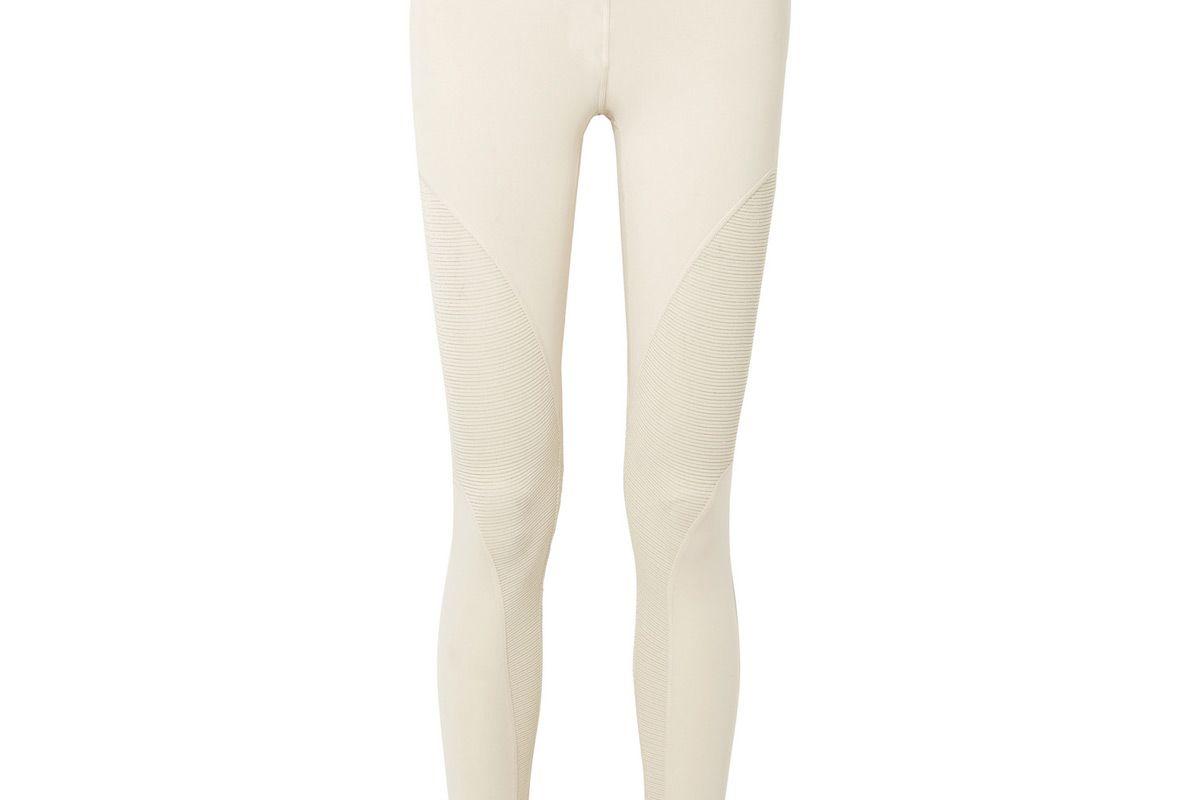 nike pro warm metallic striped dri fit paneled stretch leggings