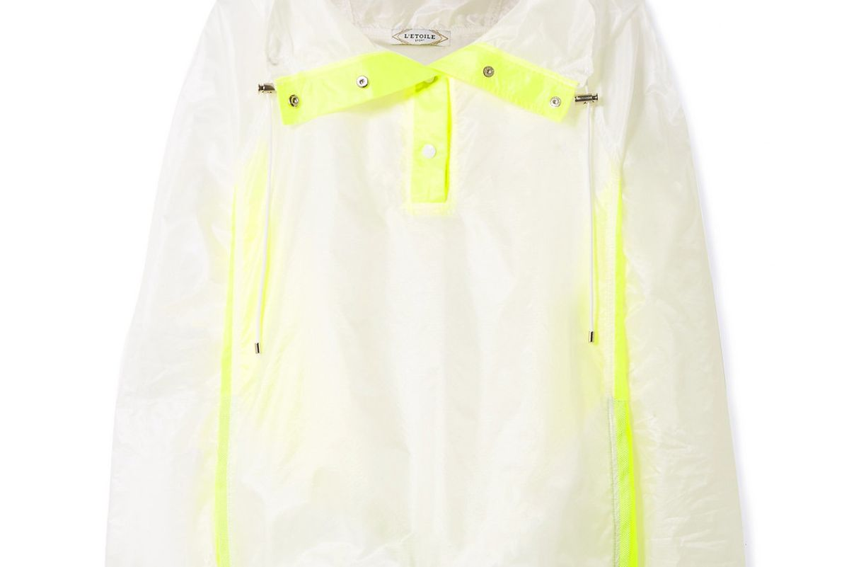 e'toile sport hooded two tone ripstop jacket