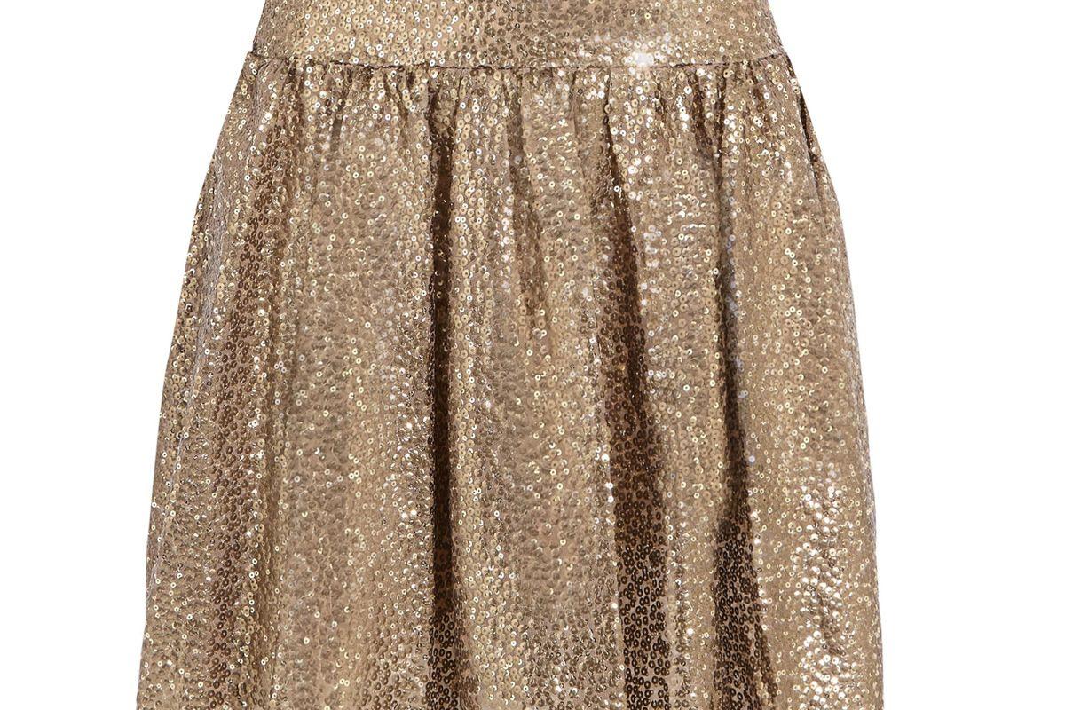 Sequined Tulle Mini Skirt