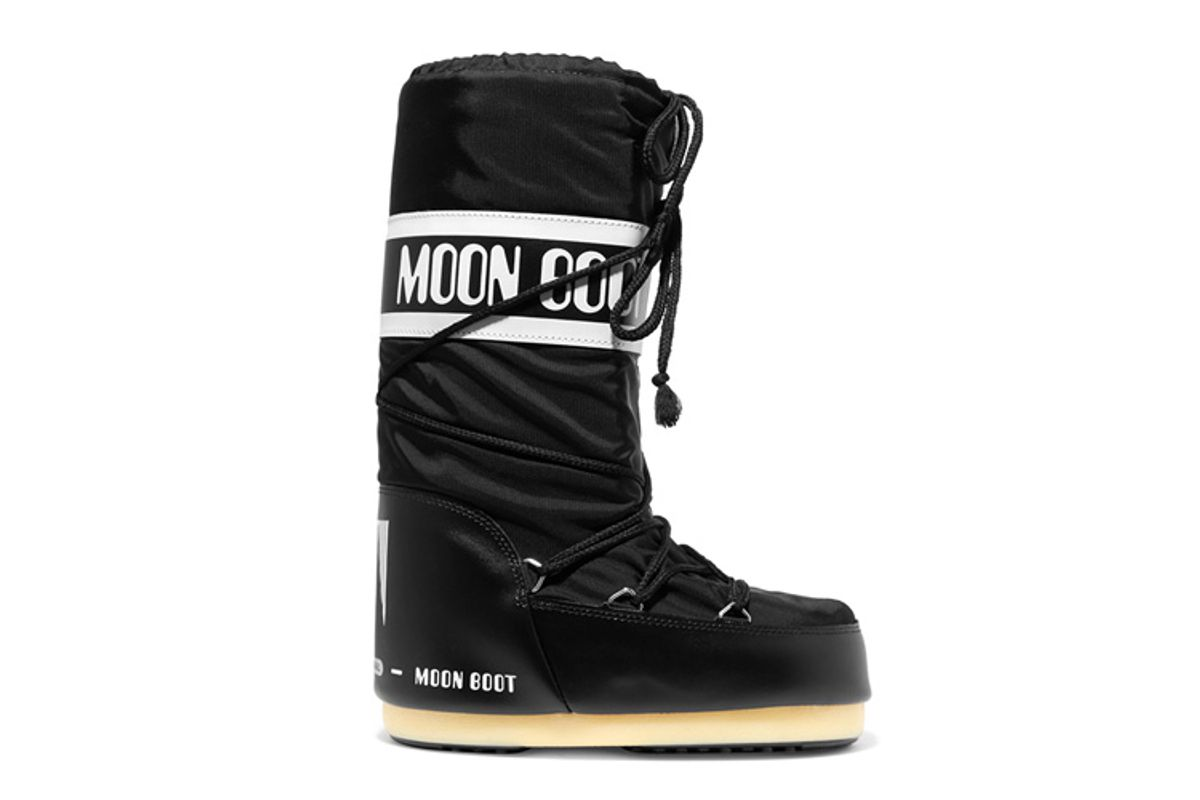 moon boot shell pique and faux leather snow boots