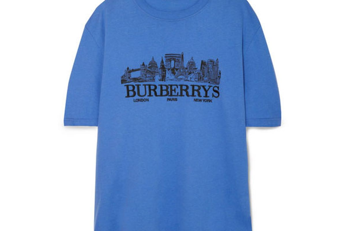 burberry oversized embroidered cotton jersey tshirt