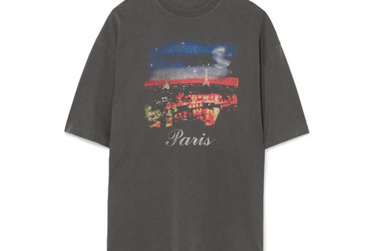 balenciaga oversized printed cotton jersey tshirt
