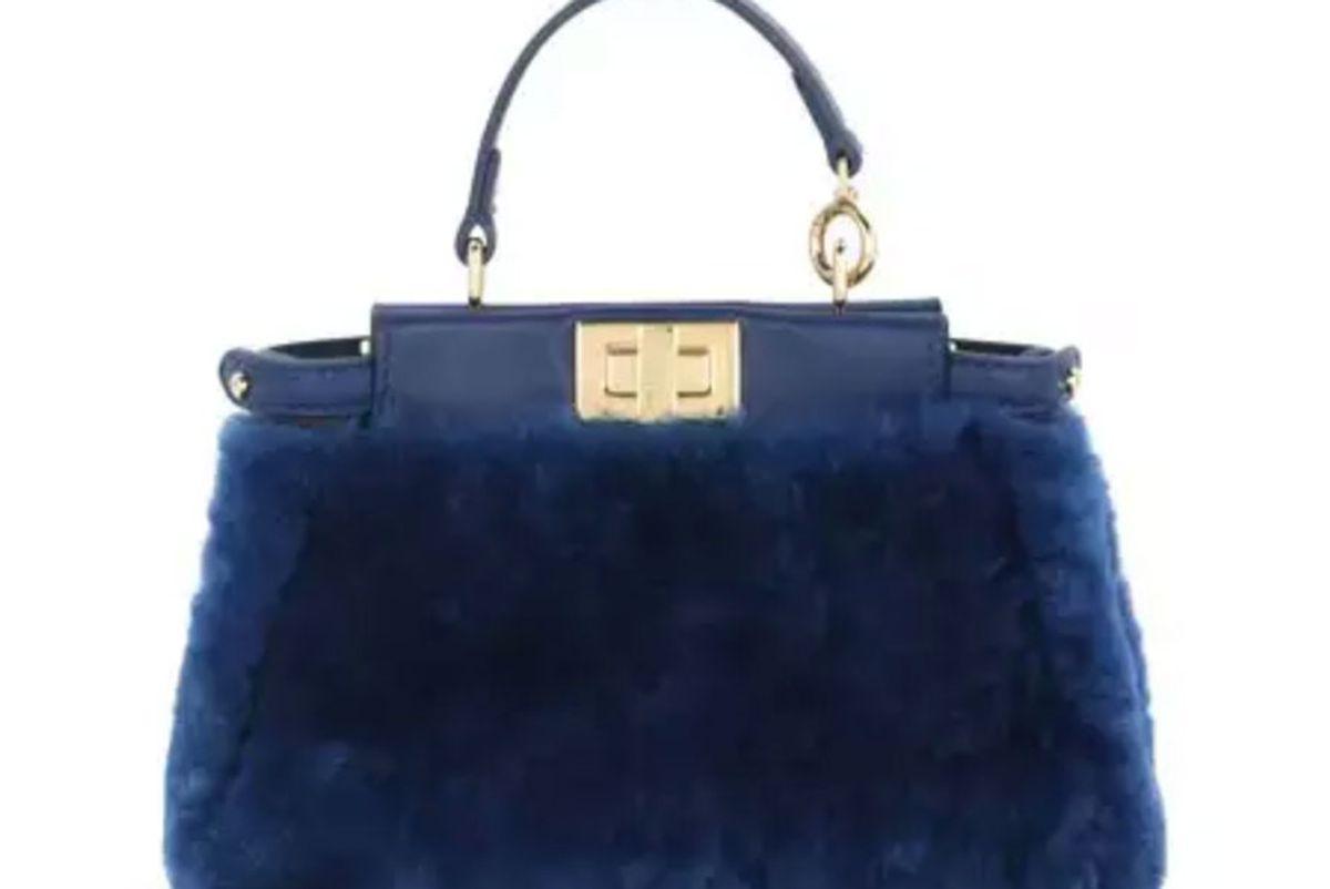 fendi peekaboo micro shearling satchel bag