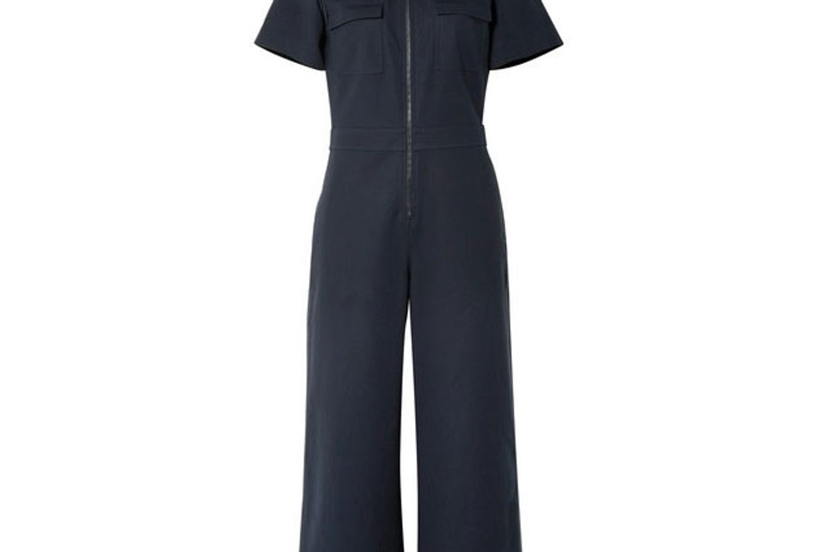 elizabeth and james morrison cotton blend jumpsuit