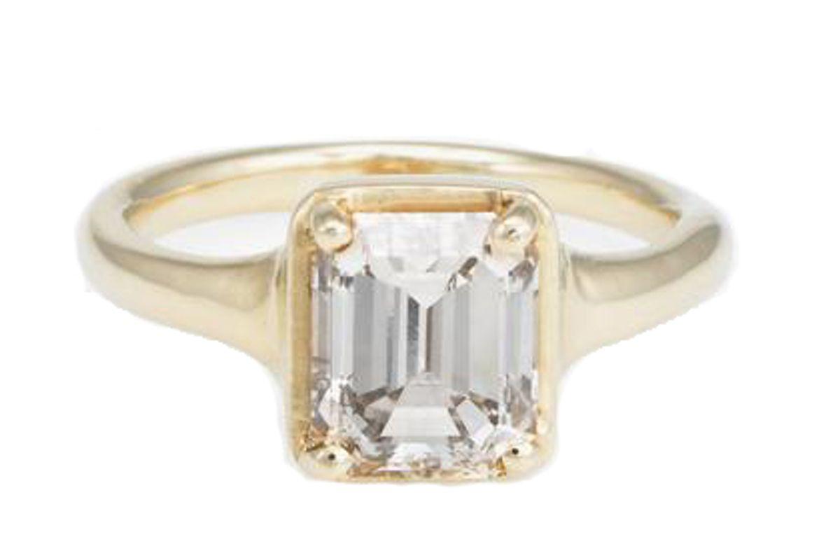 dream collective emerald cut diamond ring