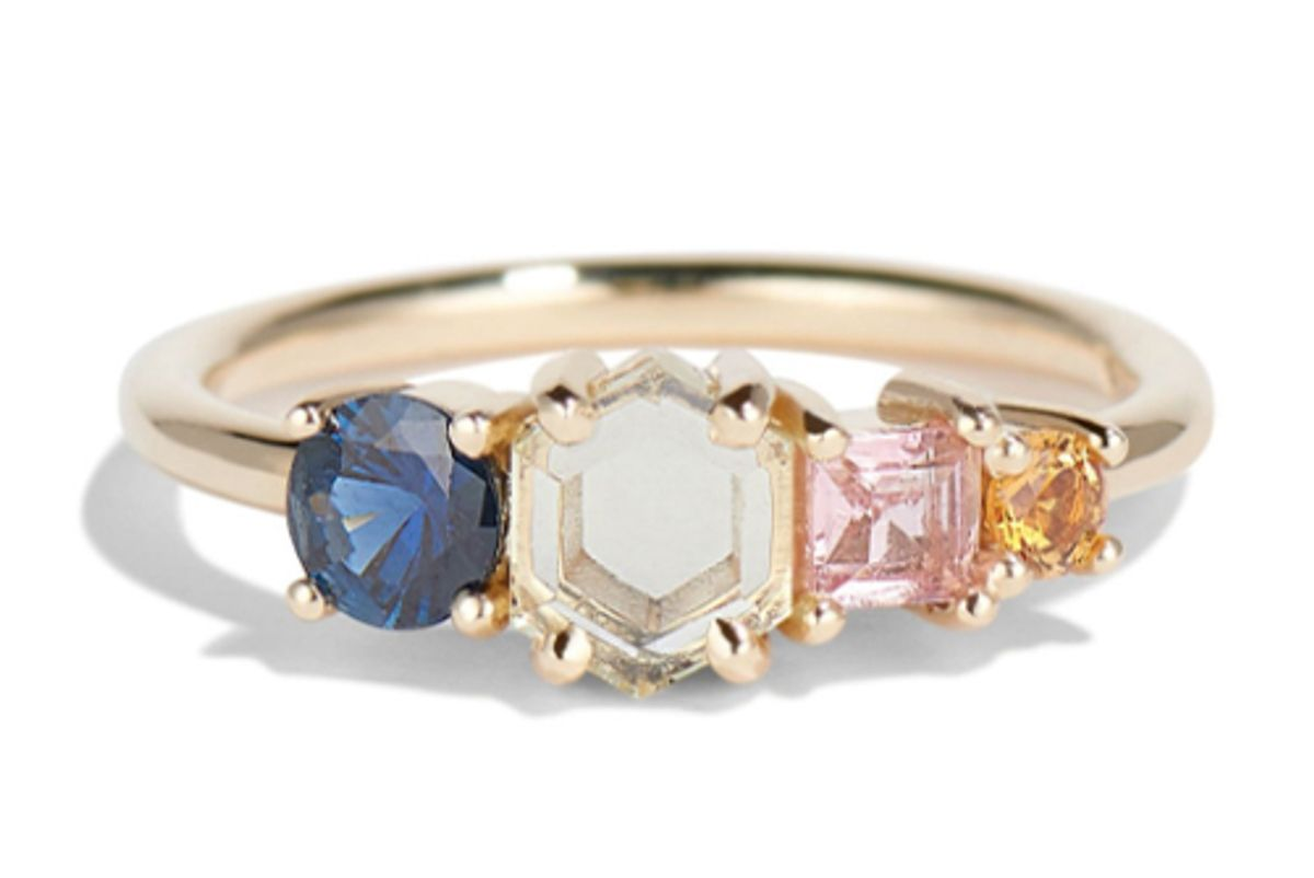 bario neal hex sapphire linear ring
