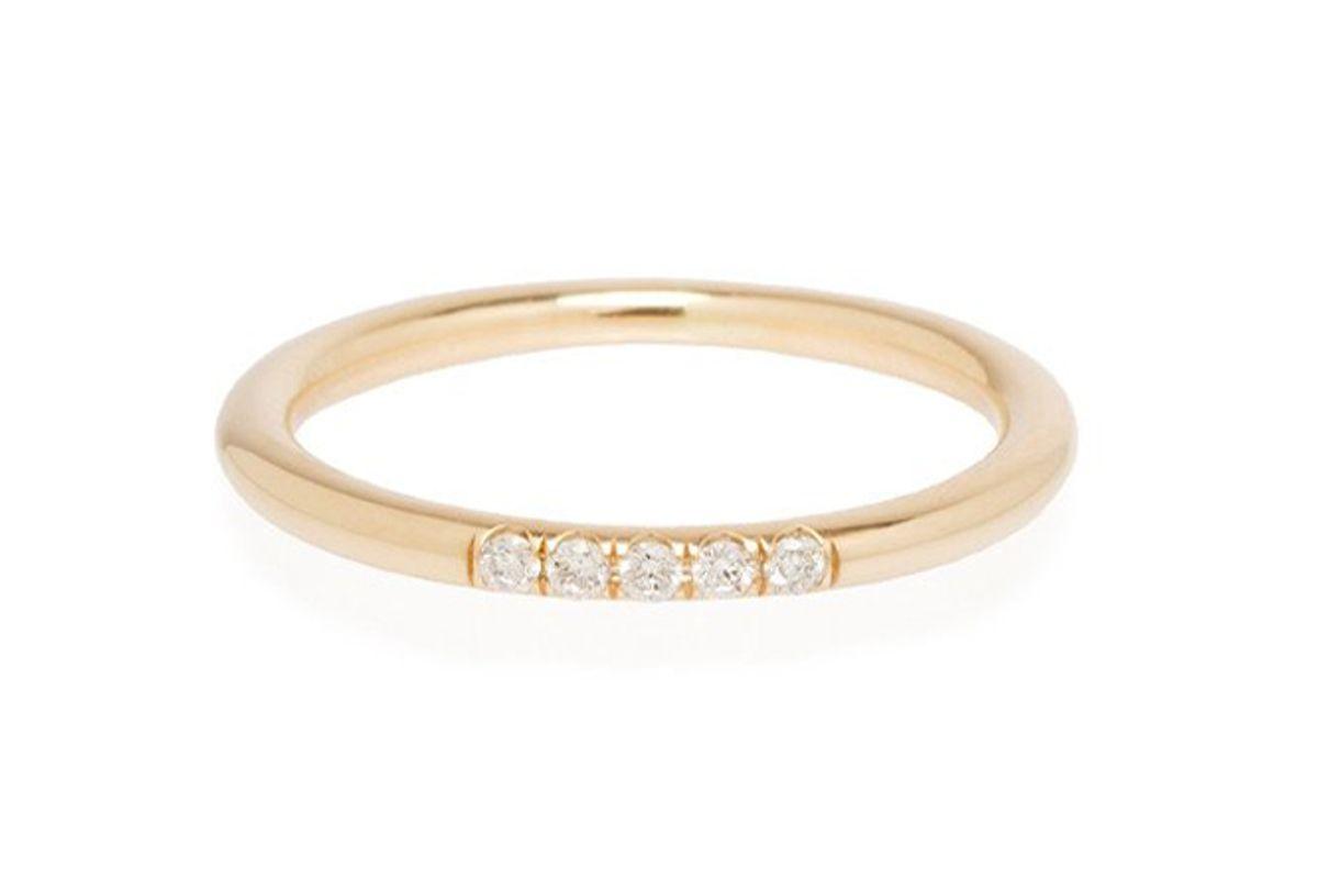 zoe chicco 14k 5 pave diamond band