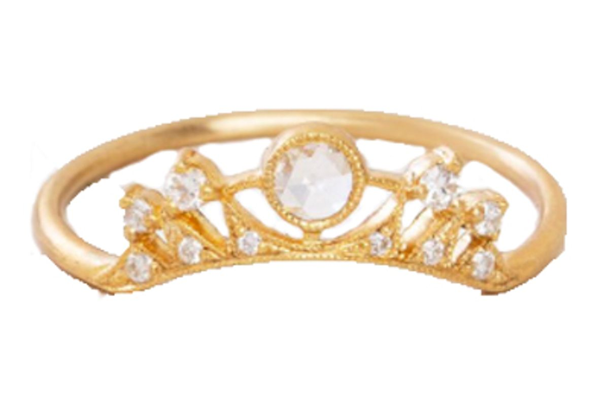 love adorned curved diamond band ring
