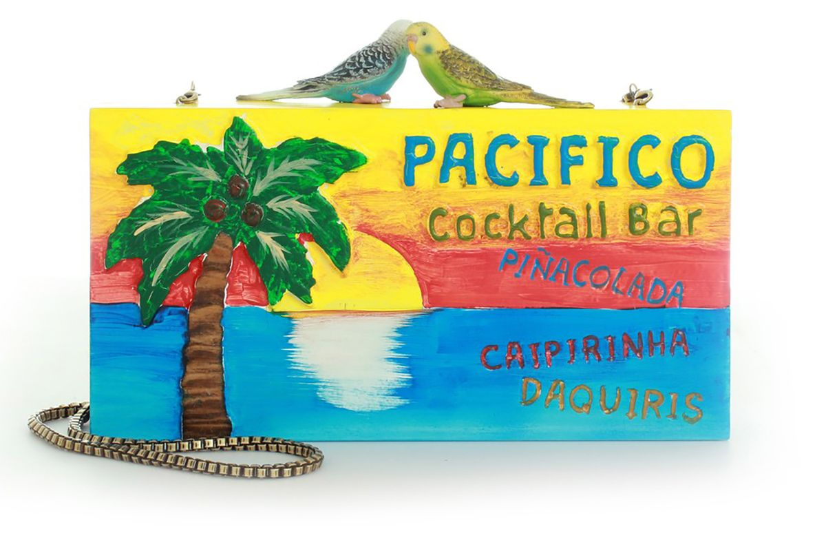 Pacifico Carved Wooden Clutch
