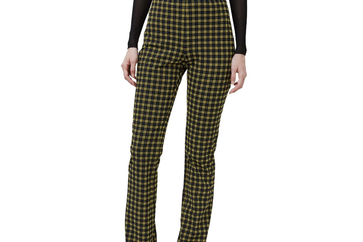 rachel comey switzer pant in black stretchy plaid