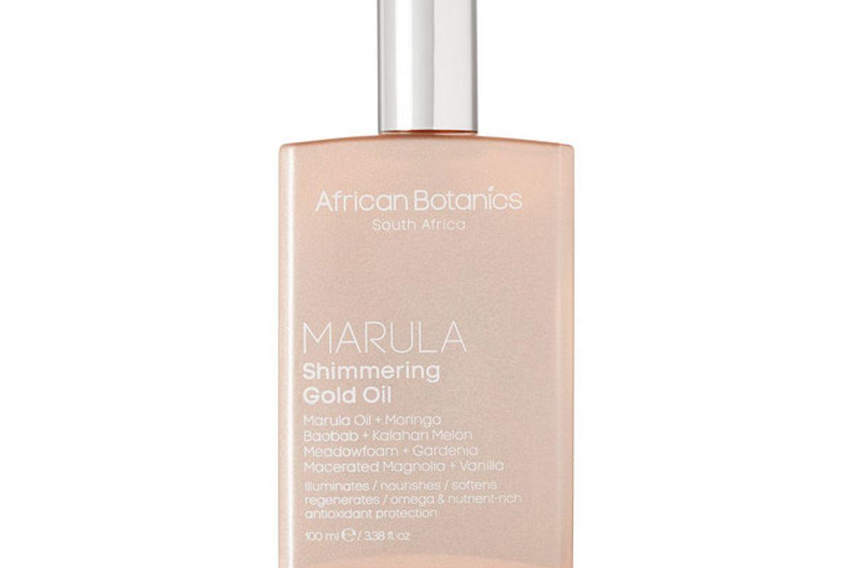 african botanics marula shimmering gold oil 100ml
