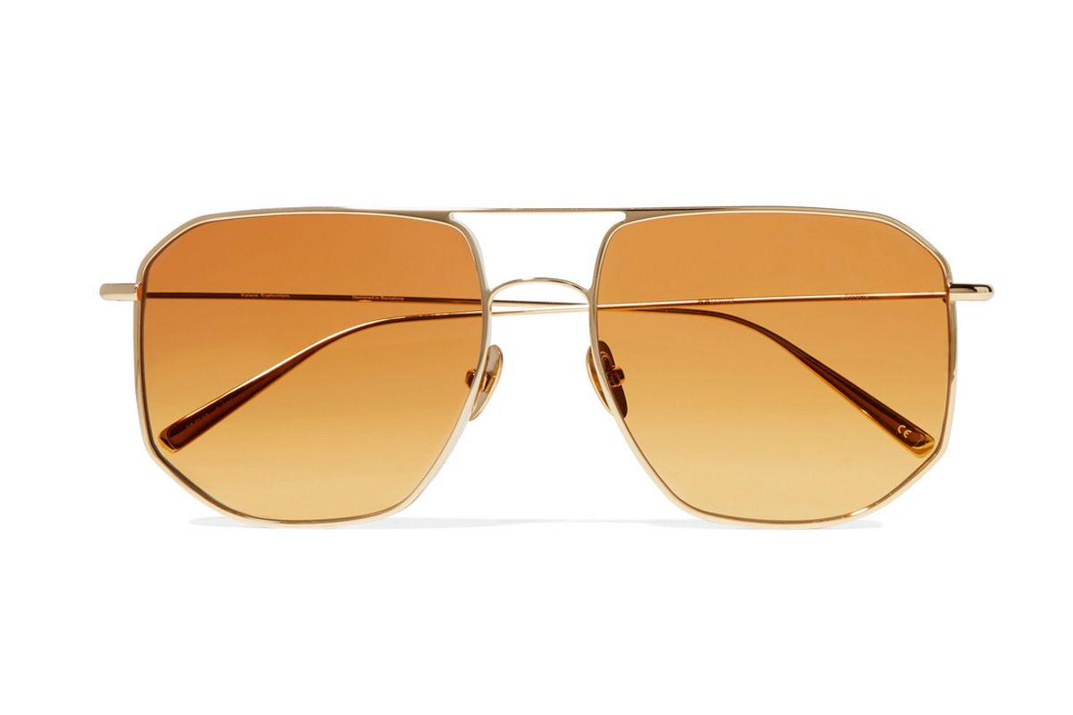 kaleos la motta aviator style gold tone sunglasses