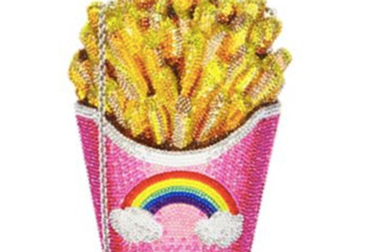Crystal Rainbow French Fries Clutch