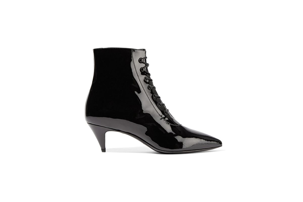 Cat patent-leather ankle boots