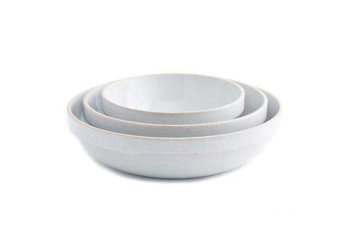 hasami porcelain round bowls