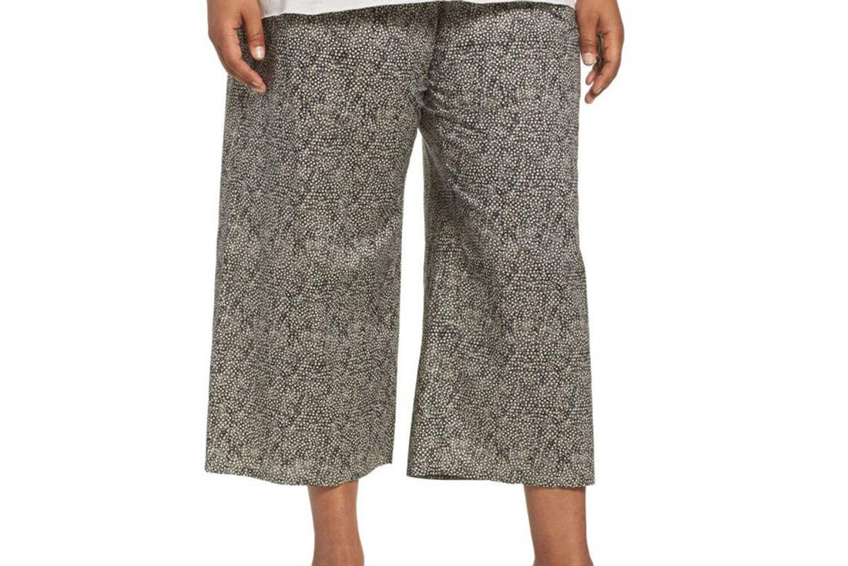 Droplet Print Organic Cotton Crop Pants
