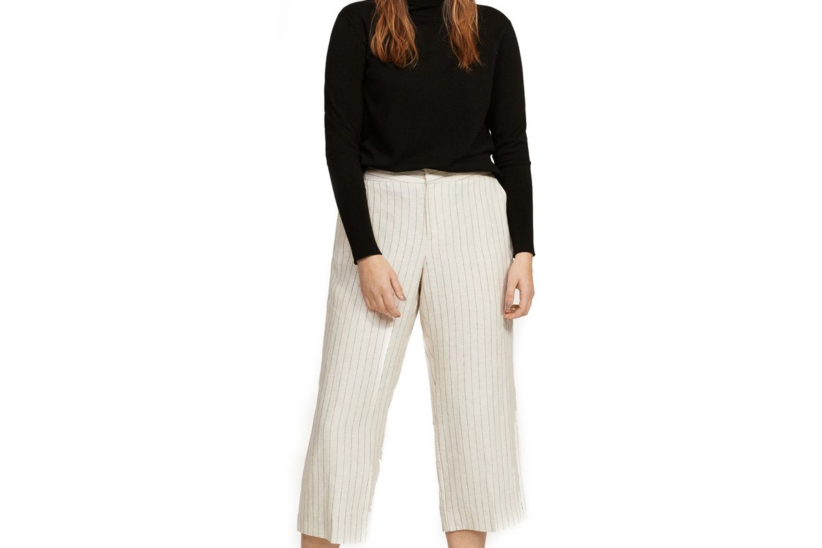 Striped Crop Trousers