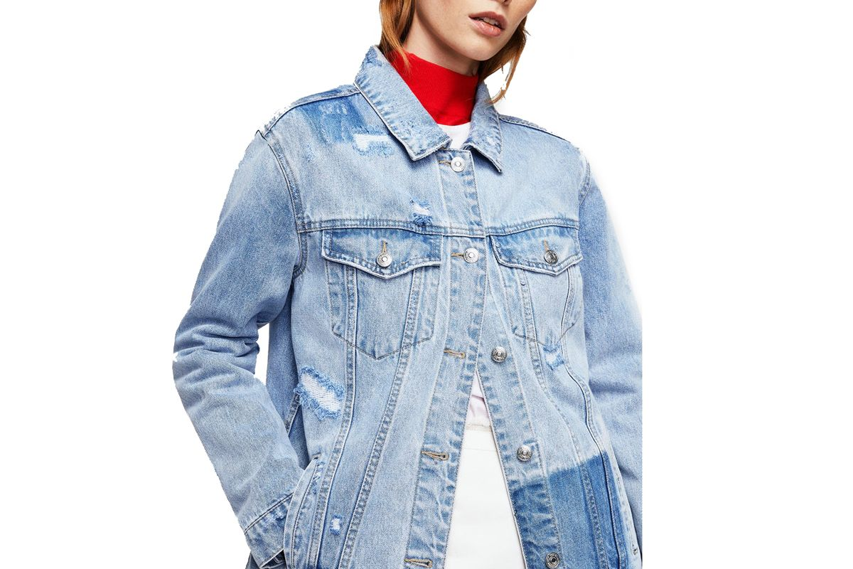 Rips Oversize Denim Jacket