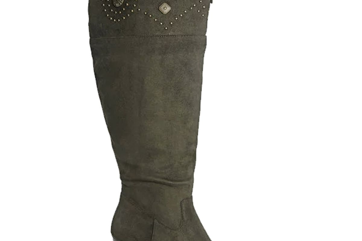 Meridian Stud Trim Over the Knee Boot