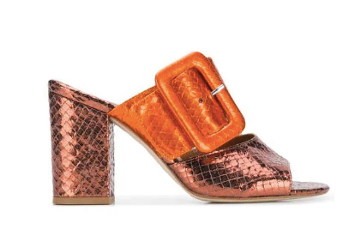 paris texas snakeskin texture mules