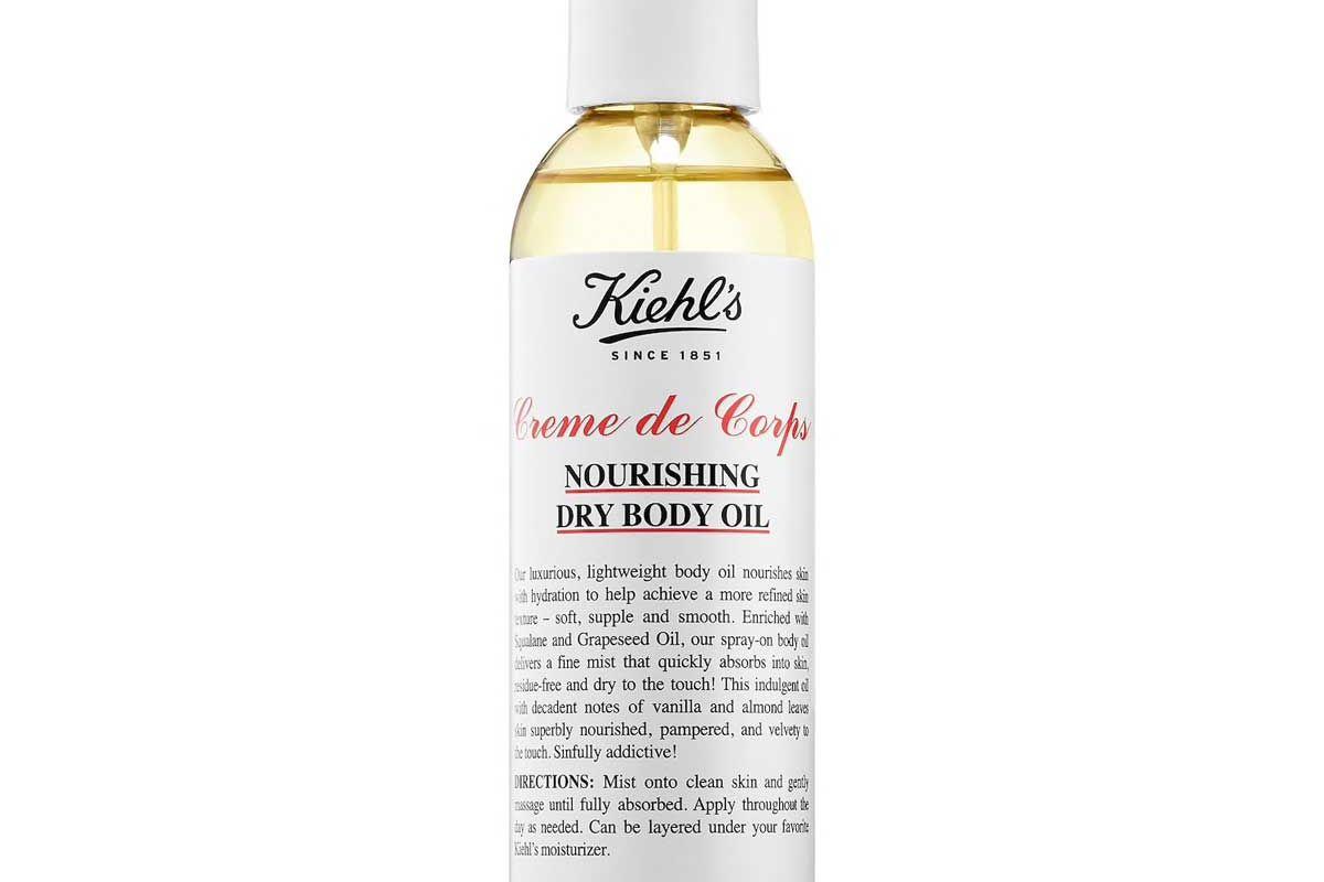 kiehls creme de corps nourishing dry body oil