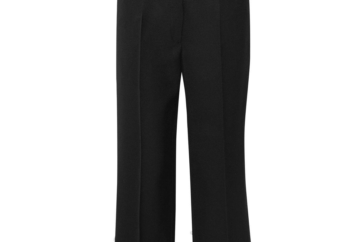 Iris Cropped Wool-Twill Wide-Leg Pants