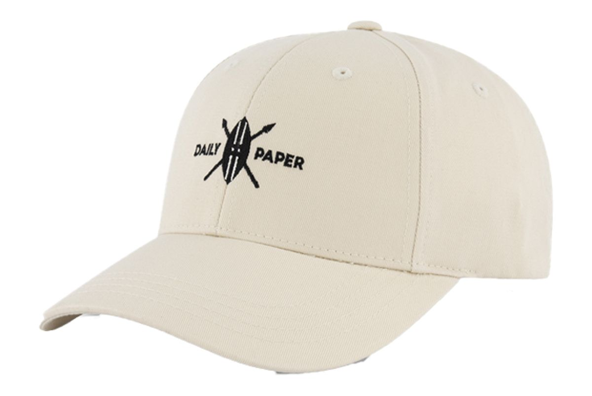 daily paper moonbeam beige shield logo cap