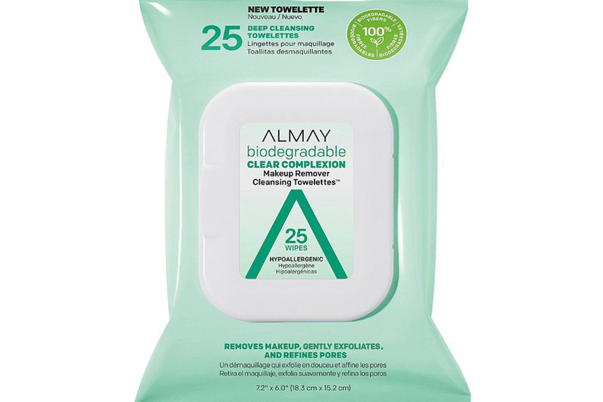 almay biodegradable clear complexion makeup remover cleansing towelettes