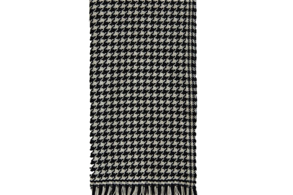 officine generale houndstooth italian wool cashmere scarf