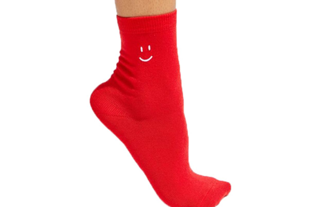 out from under smiley crew sock