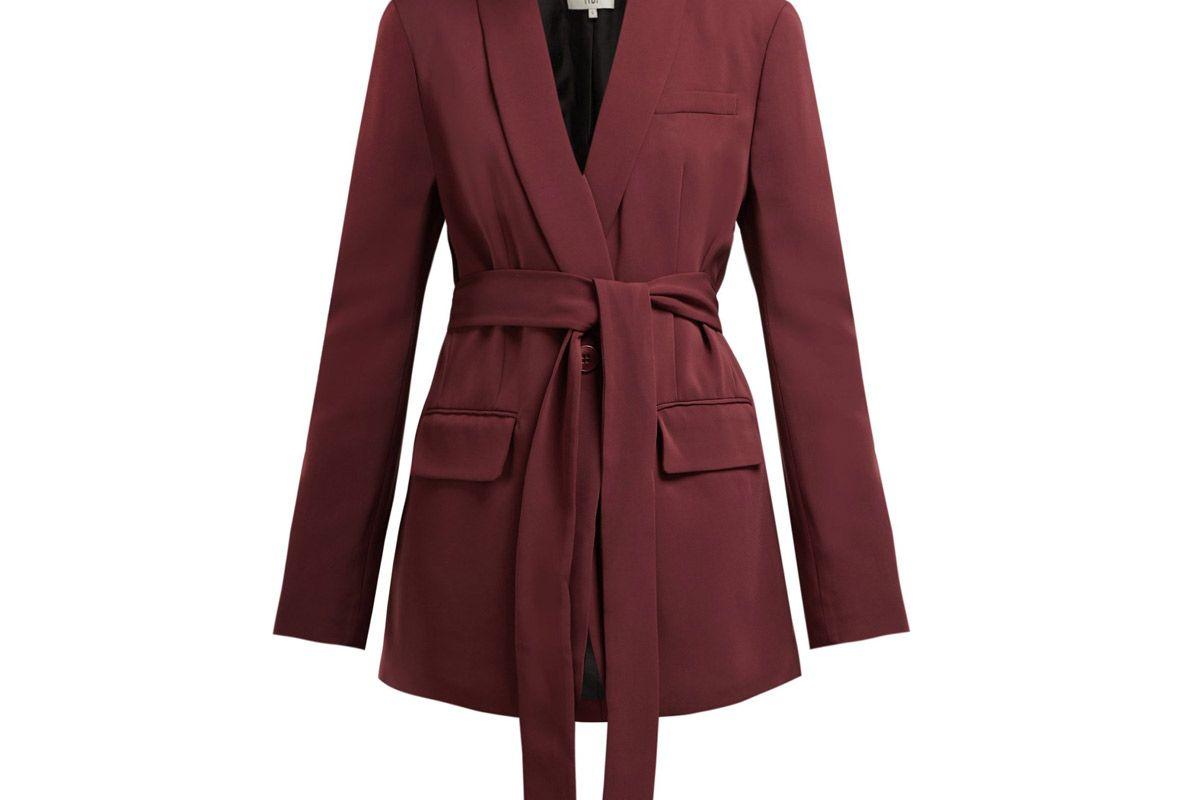 tibi oversized belted crepe blazer