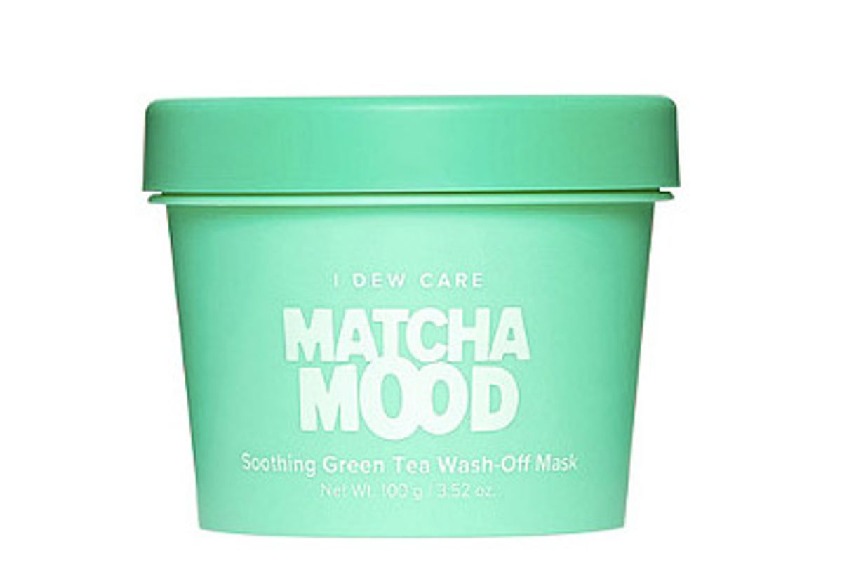 memebox i dew care matcha mood soothing green tea wash off mask